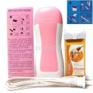 3in1 Pink Hair Removal Roller Depilatory Heater Honey Wax Warmer Paper Full Kit
