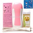 Pink Hair Removal Roller Depilatory Heater Banana Wax Warmer Paper 3in1 Full Kit