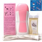 Pink Hair Removal Roller Depilatory Heater Ice Cream Wax Warmer Paper Full Set