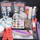 New 24 in 1 Nail Art UV Gel Brush Tips Top Coat Glue Decorations Full DIY Tools