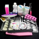 23in1 DIY Nail Art UV Gel Brush False Nail Tips Cutter Sanding File Tools Kits