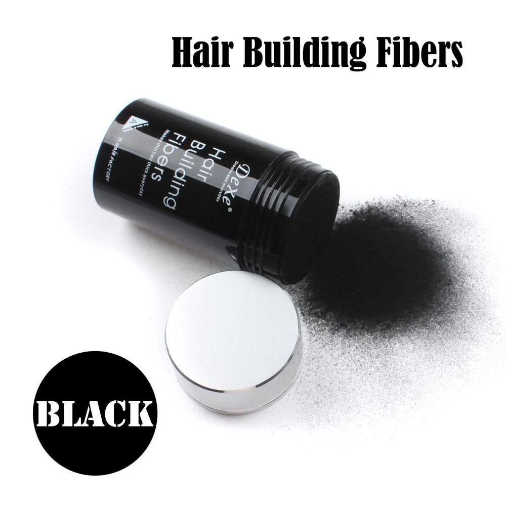 Easy to Use Hair Building Fibers Black Color 22g with Tracking Number