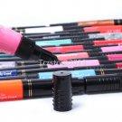 12/24/48 Pcs Pure Glitter 3D Nail Art Two-Way Polish Brush Pen Draw Paint Set