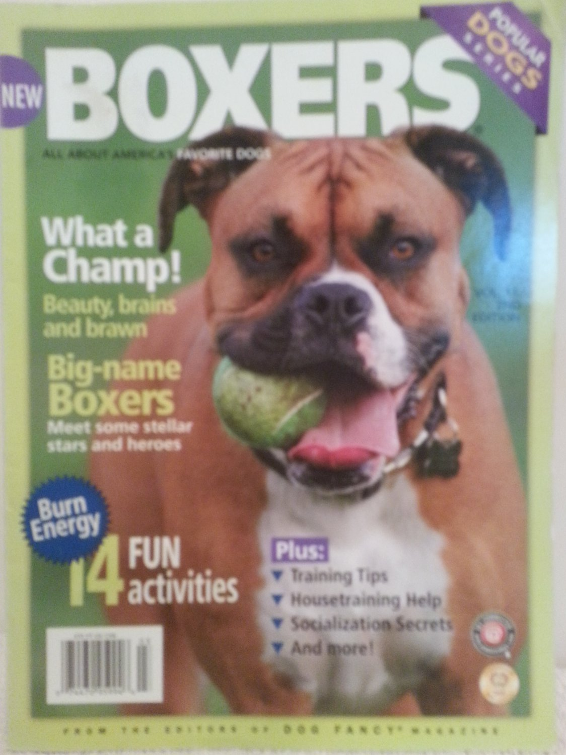 Boxers Magazine Volume 11 2nd edition Back Issue