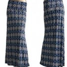 New Geometric Print Fold Waist Maxi Long Skirt Blue Black White S M L XL