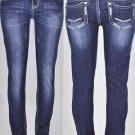 Sale NWT LA Idol Stitched Fleur De Lis Crystal Stretch Skinny Jeans Size 1 3 5 7
