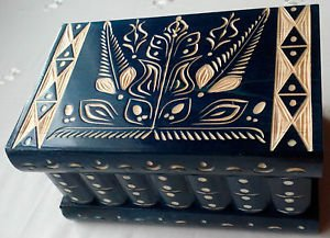 Big wooden magic puzzle secret surprise tricky beautiful handcarved jewelry box