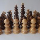New big huge handmade hazel wooden chess piece set King is 12.5 cm, 4.92 in
