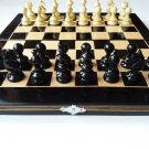 New handmade hazel wood chess piece,beech wood chessboard box wooden chess set
