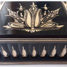 New big huge black wood treasure pirate mystery jewelry secret magic puzzle box