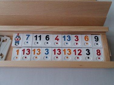 New big rummy,rummikub massive beech wood box travel strategy family board game