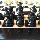 Black travel wooden chess set hazel wood chess piece,beech wood chessboard box