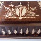 New big huge brown jewelry magic puzzle box secret compartment hidden drawer