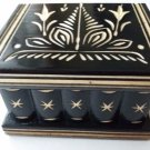New cute handmade black wooden secret magic puzzle jewelry ring holder box gift