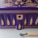 New big huge special purple wood jewelry secret magic treasure puzzle box case