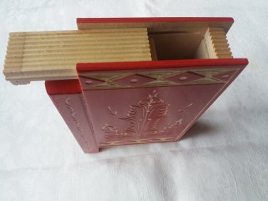 New big huge modern red misterious magic puzzle surprise wizard mystery book box