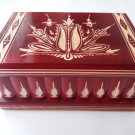 New big huge red wooden jewelry secret magic puzzle treasure pirate wizard box
