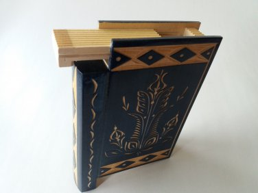 New big huge blue misterious magic puzzle surprise wizard mystery book box