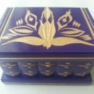 New violet wooden secret magic puzzle  ring holder surprise mystery box
