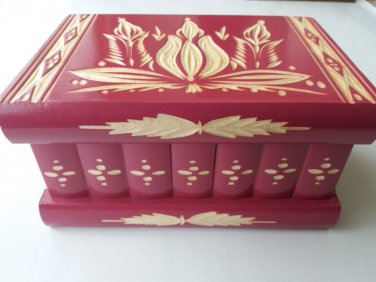 New special raspberry carved wooden wizard jewelry puzzle magic box brain teaser