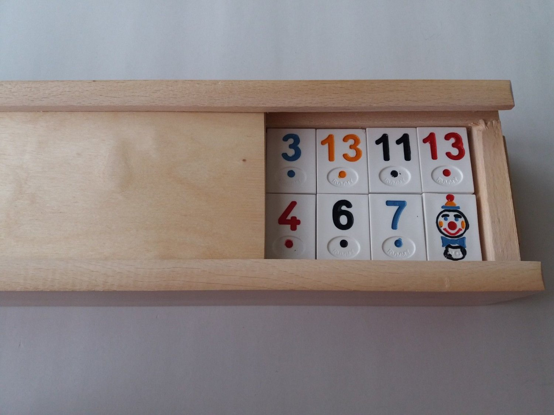 New big rummi kub children's travel strategy memory family board game wooden box