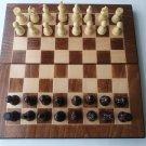 New beech wood chessboard box backgammon checkers hazel wood chess piece set
