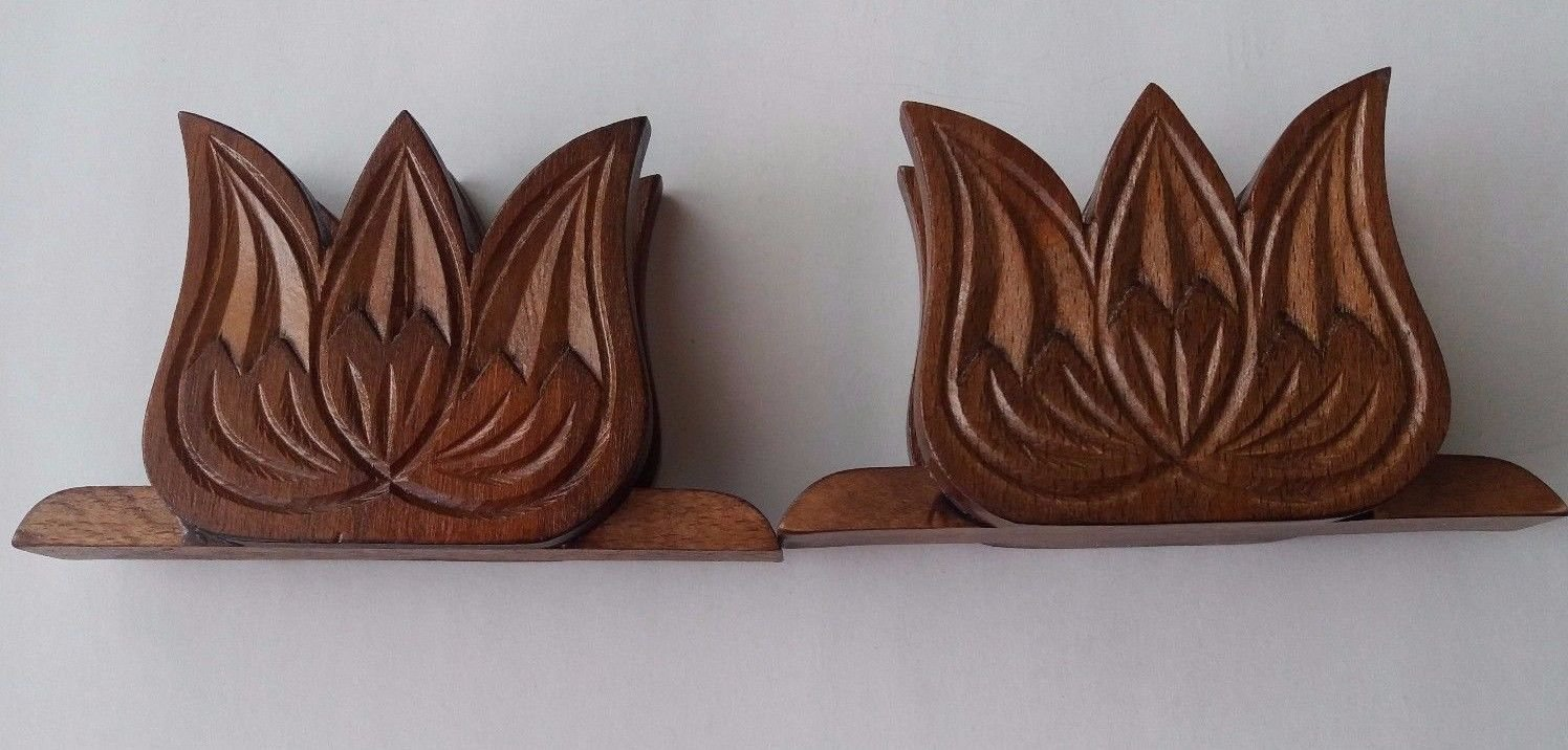 Brown special handmade napkin holder set tulip napkin holder gift for women,girl