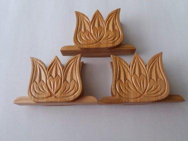 Napkin holder handmade special cherrywood set tulip napkin holder gift for women