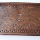 Brown maple wood medium carved tray salver plate home decor serving dish unique
