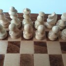Nut brown travel game wooden chess set chess piece,beech wood chessboard box