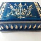 New big huge blue jewelry magic puzzle box adventure challenge hidden drawer toy