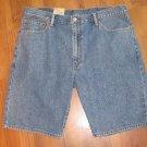 New Mens Sz 42 Levi Strauss 505 Regular Blue Jean Shorts Below Waist Above Knee