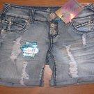 New Jr. Sz 3 Almost Famous Blazin' Bermuda Cuffed Distressed Denim Jean Shorts