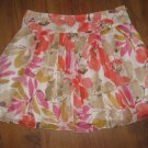 New Womens Sz 14 Chaus Floral Lined Pleated Skirt Retails $69