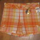 New Girls Sz 12 Star Ride Orange/Yellow Plaid Shorts Retails $28