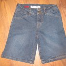 Womens Sz 0 Paris Blues Bermuda Jean Shorts Euc