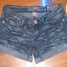 New Jr. Sz 1 Almost Famous Cuffed Pretty in Prints Denim Jean Shorts
