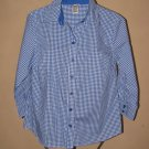 Womens Sz S Rebecca Malone 3/4 Sleeve Button Front Blouse EUC