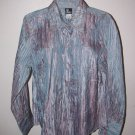 New Womens Sz M Ali Miles L/S Button Front Blouse