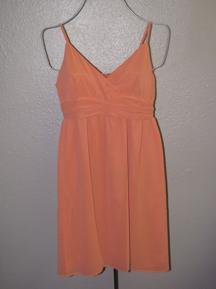 New Womens Sz 6 Elle Orange Spaghetti Strap Summer Dress $60