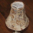 "New Small Brown Floral Taupe Jubilee Lampshade 5 1/8"" x 2 1/2"" x 4 3/4"""