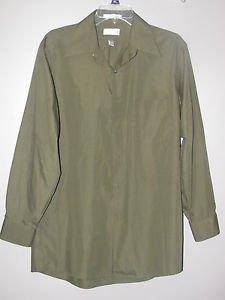 Mens Sz 15 1/2 32/33 Van Heusen L/S Button Front 1 Pocket Shirt EUC