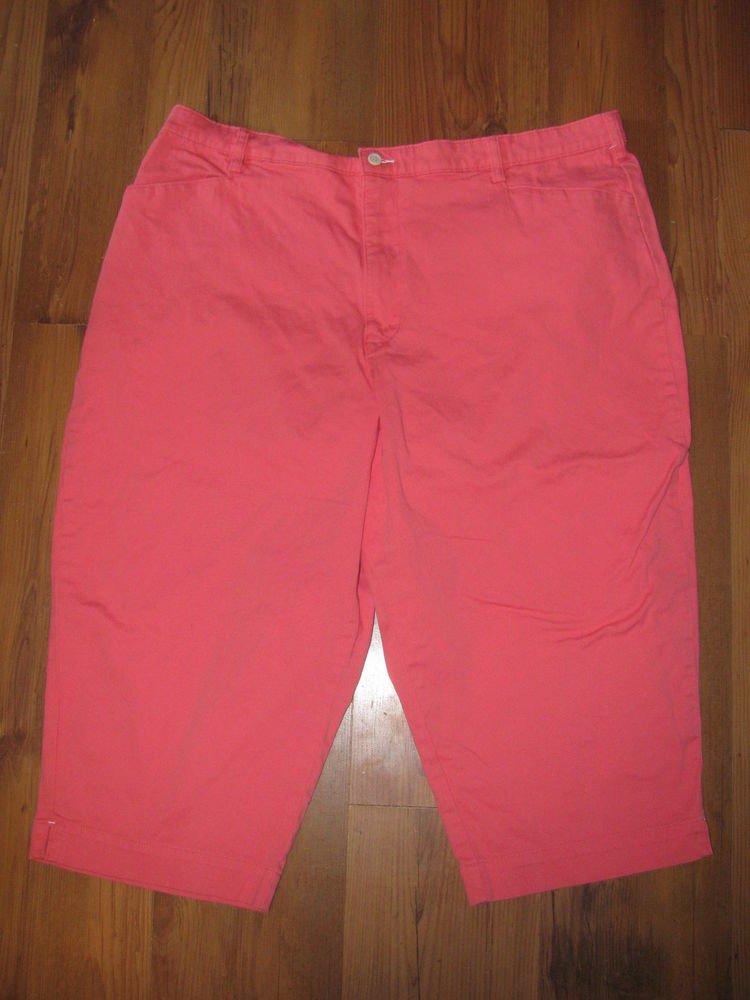 Womens Sz 24 W Lee Capri Pants EUC