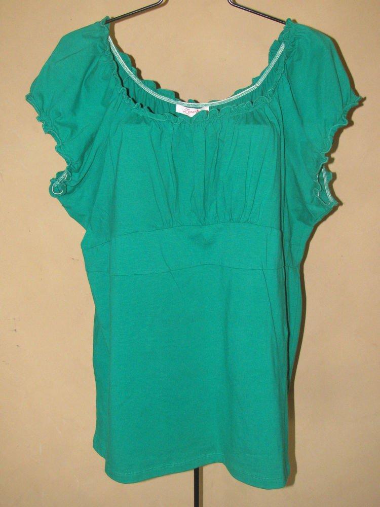 New Womens Sz 18/20 Lena Green Knit Top