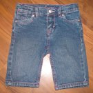 Girls Sz 5 Levi's Bermuda Jean Shorts w/Butterflies on Back Pockets EUC