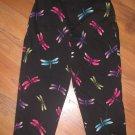 Womens Sz 8 Briggs Capri Pants w/Dragonfly Design EUC