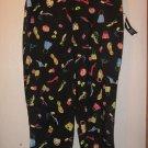 New Womens Sz 14 Alanni Capri Pants Black With Sandal and Purse Design