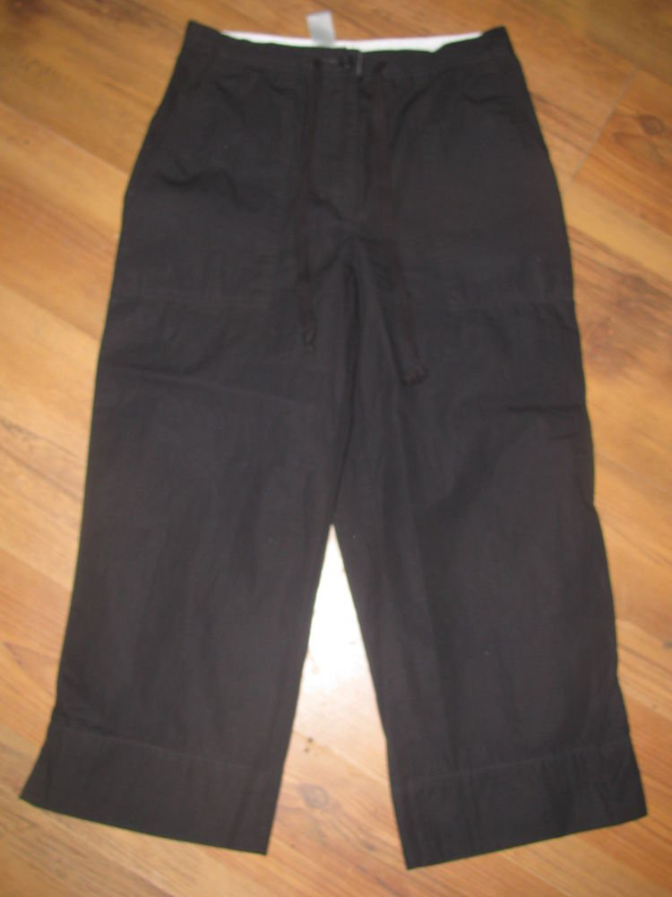 Womens Sz S Jones Wear Black Capri Pants EUC