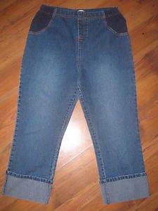 Womens Sz S 4/6 Announcements Maternity Capri Jeans EUC