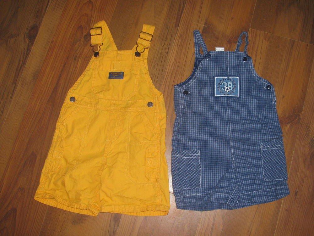 Lot 2 Toddler Boys Sz 24 M Oshkosh (never worn) and Class Club Shortalls Outfit